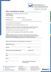 Downloads Formular für Firmen